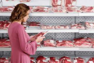 Покупка мяса в магазине