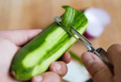 Срезка шкурки овощей