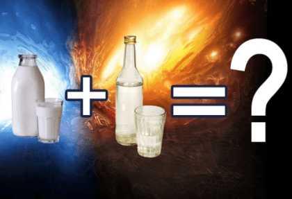Молоко с водкой