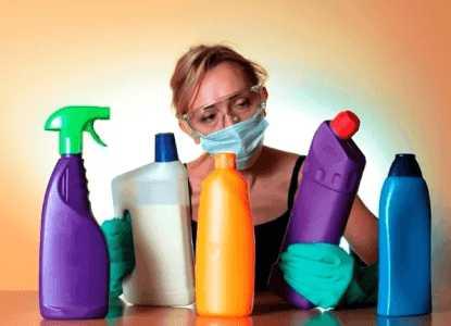 Меры безопасности при работе с бытовой химией