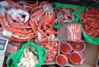 Покупка морепродуктов