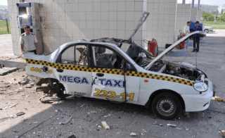 Взрыв автомобиля на гузу