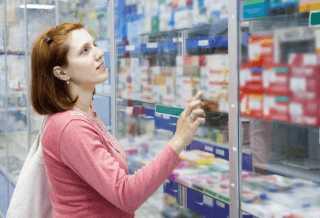 Покупка капель в аптеке