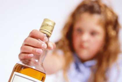 Отравление алкоголем у детей