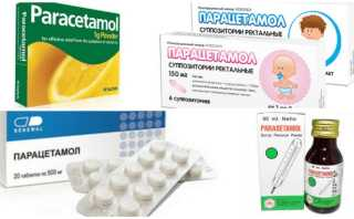 Форма выпуска парацетамола
