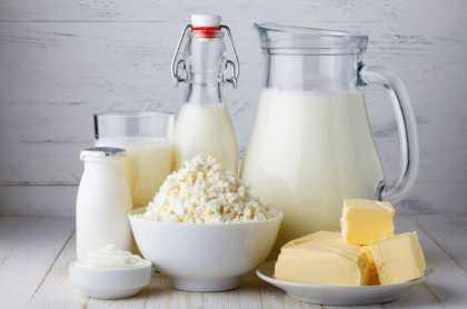 Ассортимент молочных продуктов