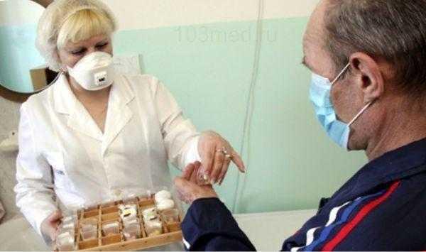 Лечение взрослых от туберкулеза в условиях диспансера